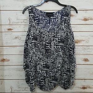 EUC🌻Cynthia Rowley Sleeveless Layered Top